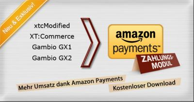 Amazon Payments Modul - Gambio GX2 Version