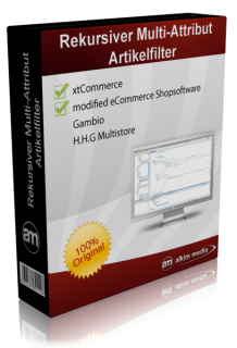 Rekursiver-Multi-Attribut-Artikelfilter auf modified eCommerce Version 1.06 portiert.